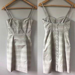 Moulinette Soeurs Gray Button Down Back Dress 6P